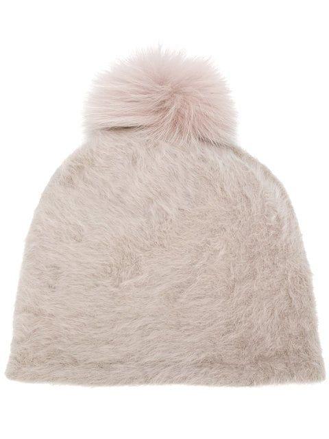 c78734306e9 Shop Max Mara pom pom beanie hat.