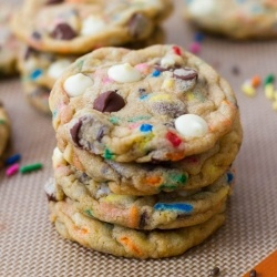 cake batter cookies by sallysbakeblog