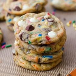 cake batter cookies by sallysbakeblog