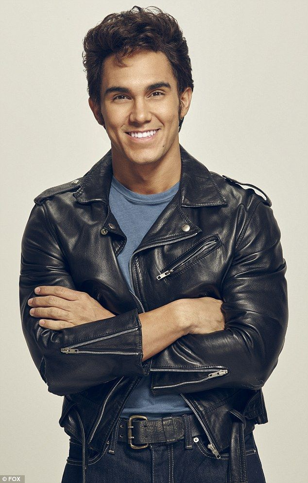 Aaron Tveit as Danny in promo shots for Grease: Live musical