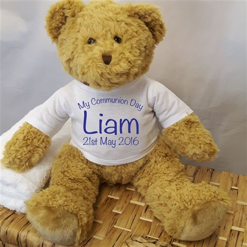 Personalised Holy Communion Teddy. A cute and cuddly companion that will be treasured for years to come. €25.99 | WowWee.ie