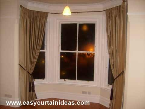 bay window curtain idea