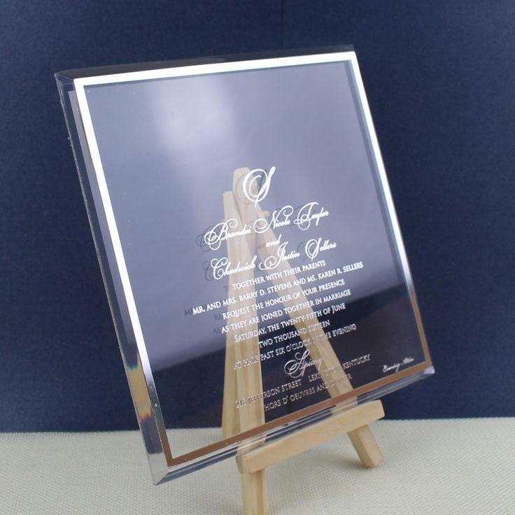 Customized Luxury Elegant Clear Acrylic Wedding Invitation