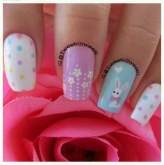 Easter Nail Art check out www.MyNailPolishObsession.com for more nail art ideas.