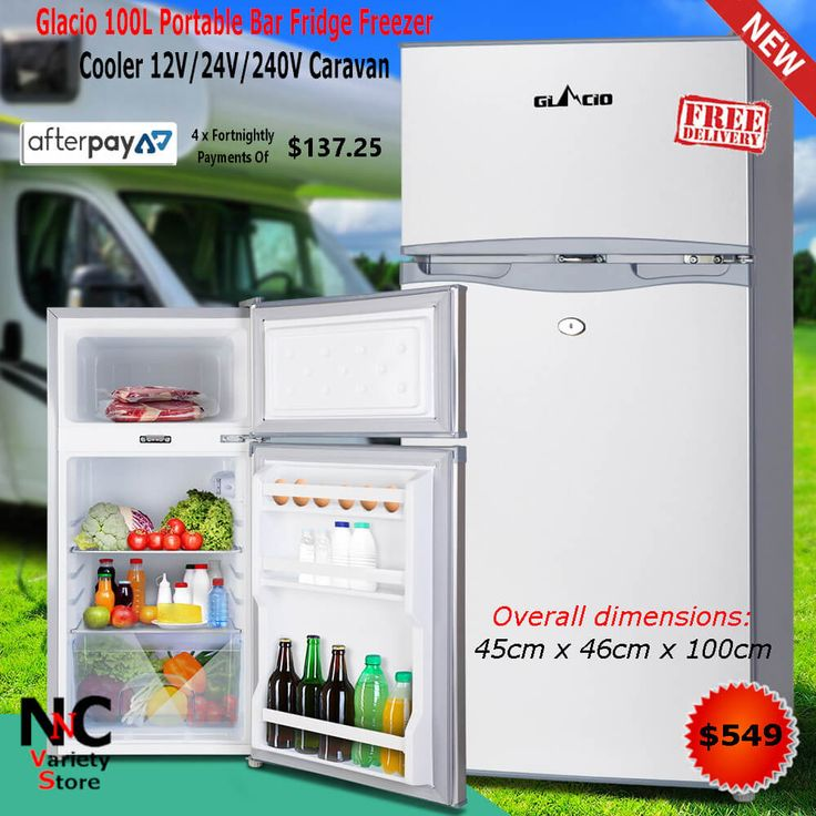 Glacio 100l Portable Bar Fridge Freezer Cooler 12v 24v 240v Caravan Bar Fridges Portable Bar Freezer