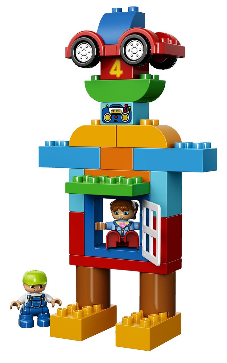 Amazon.com: LEGO DUPLO My First Deluxe Box of Fun 10580 Building Toy: Toys & Games