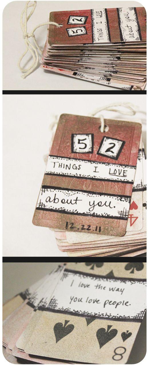 52 Dinge, die ich an dir mag! Man kann es auch als Notizbüchlein umfunktionieren.So oder so, es ist auf alle Fälle eine gute Idee!