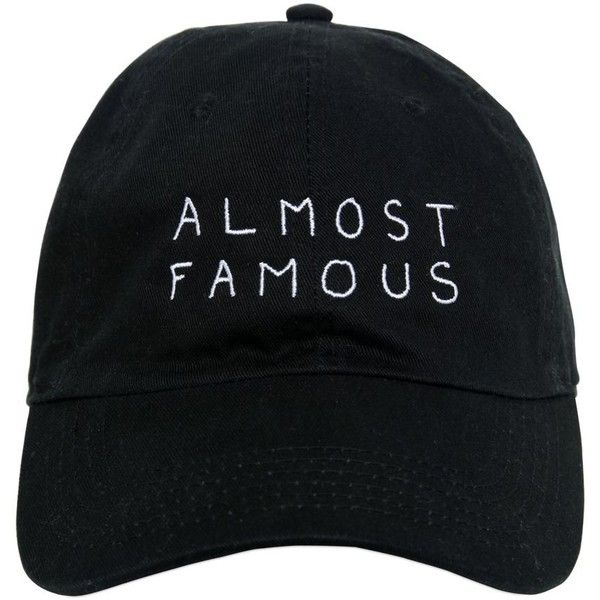Nasaseasons Women Almost Famous Embroidered Baseball Hat (€59) ❤ liked on Polyvore featuring accessories, hats, caps, black, embroidered baseball hats, ball cap, embroidery caps, embroidered caps and embroidered ball caps