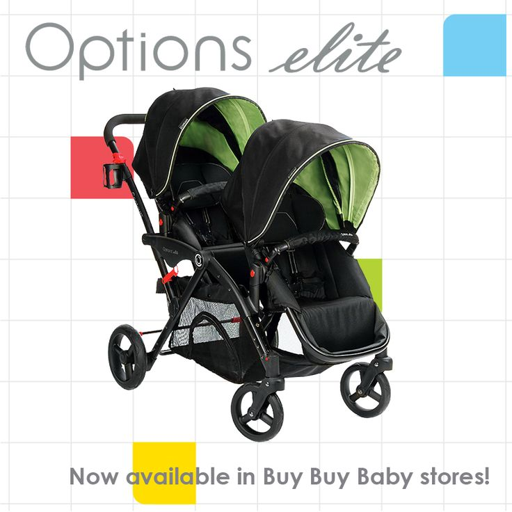 The Contours Options Elite Tandem Stroller is now available in Buy Buy Baby stores!  Be sure to call your local store for availability!  #Tandem #Stroller #Twins #DoubleStroller #ContoursBaby