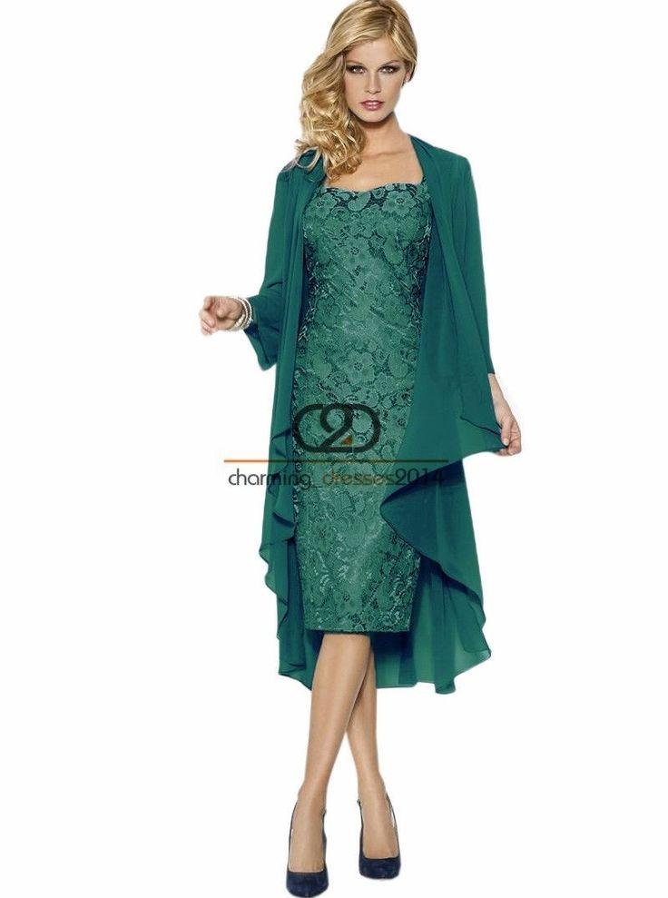 Brautmutterkleid Kurz Jacke Mutter der Brautkleid Abendkleider Ball Party Spitze   eBay