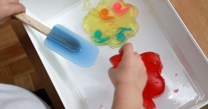 sensory play activities & ideas for preschoolers ------------------------- Zabawy sensoryczne z galaretką - Czoklele