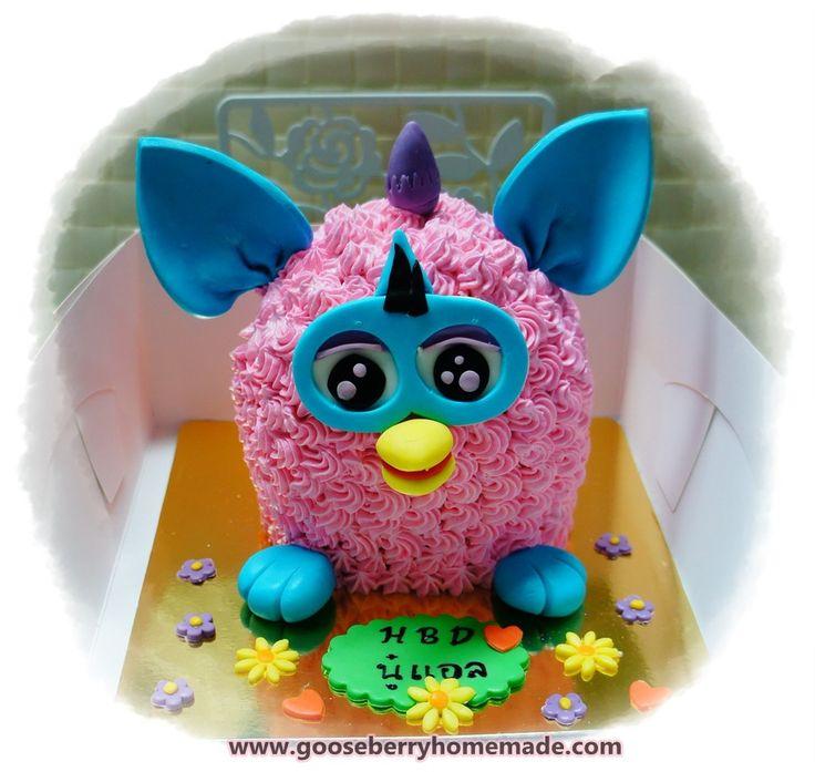 เค้กเฟอร์บี้ Furby Cake  Gooseberry Homemade cakepins.com