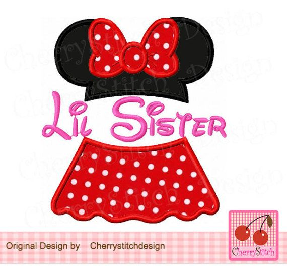 Lil sister and SisterLil Sister MinnieMinnie Digita Applique