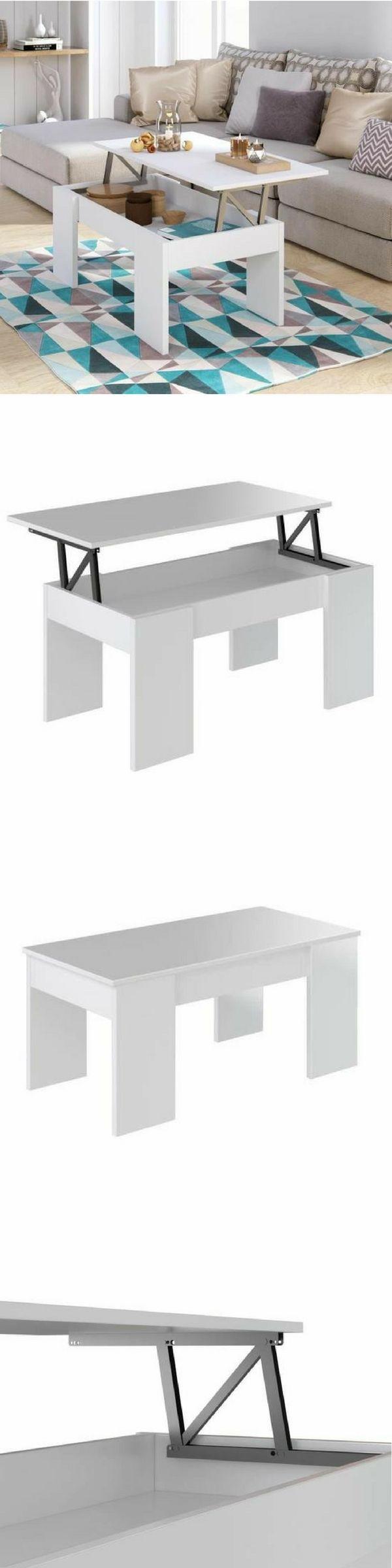 Cdiscount brade le prix de cette table basse 2 en 1 avec un plateau relevable