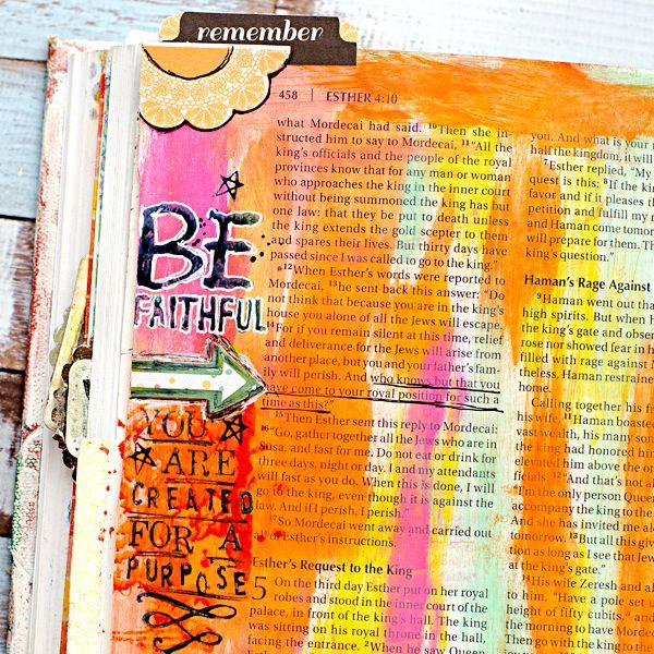 Art Journaling Art Worship Bible Process | Esther 4:14 | Illustrated Faith
