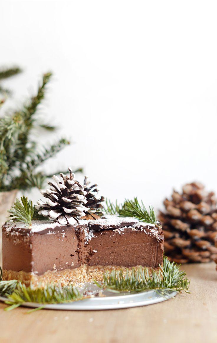 Voilà le dessert que j'ai préparé pour mon repas de Noël cette année : un layer cake chocolat - noix de coco, 100% cru, vegan et sans gluten ! www.sweetandsour.fr