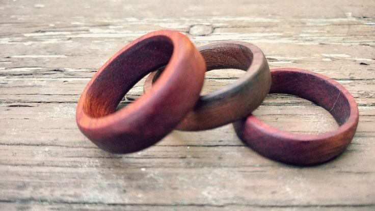 There's nothing that says love quite like a wood wedding ring. Here's the how-to. #woodworking #wedding
