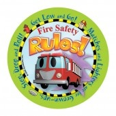 """Stretch's Fire Safety Rules"" Sticker"