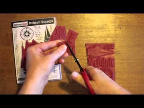 How to trim Darkroom Door rubber stamps!