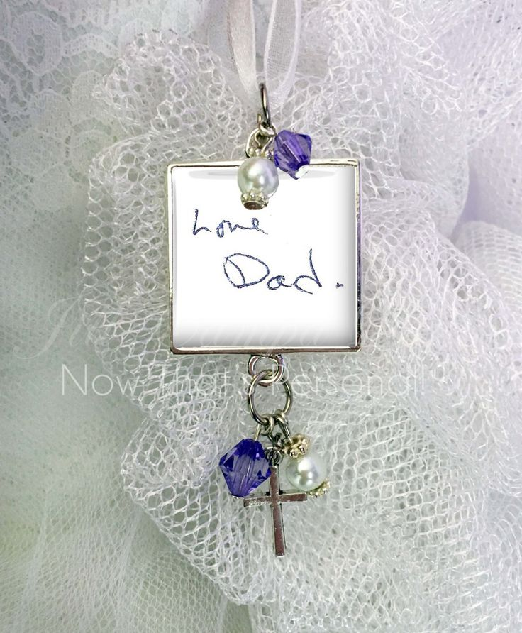 handwriting bouquet charm actual handwriting custom handwriting wedding bouquet charm wedding bouquet charm loved ones handwriting by nowtha