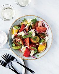 Tomato-Feta Salad with Lime and Mint | Food & Wine