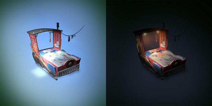 Yionguon's 3D works - Train Bed for Train Master