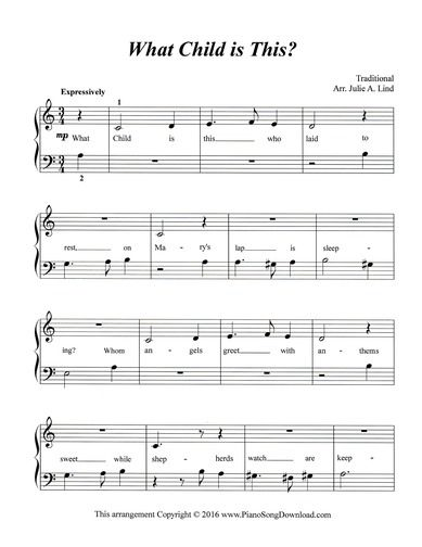58 best images about Christmas Piano Sheet Music printable for all ages and levels on Pinterest ...
