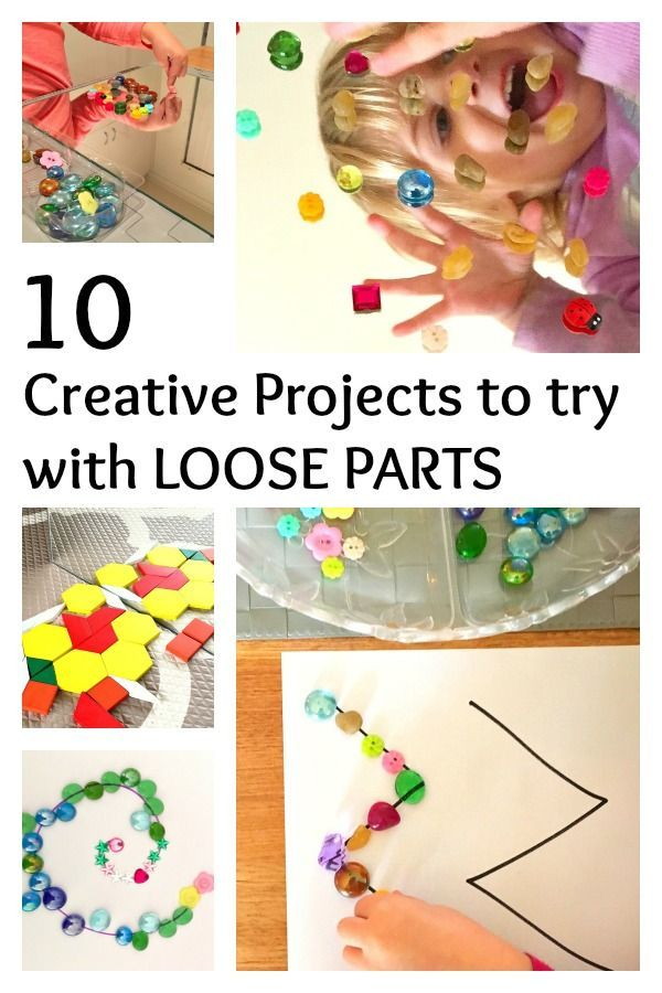 10 Creative Projects to Try with Loose Parts. Have you tried making transient art? Fun for preschool, kindergarten and bigger kids!