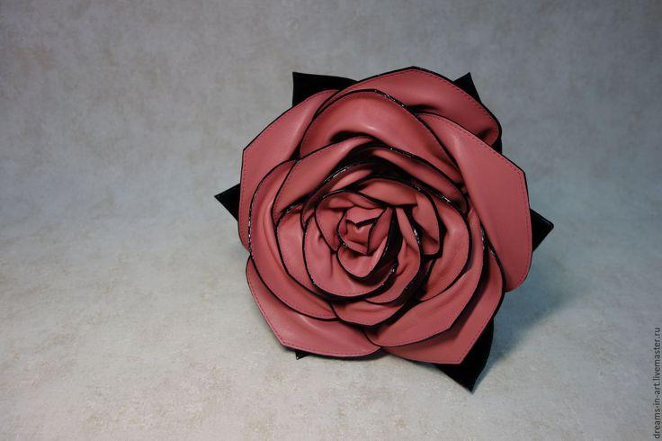 """Купить Кожаная сумка-роза """"Джулия"""" (бюджетная коллекция) - арт-сумка, сумка роза"""