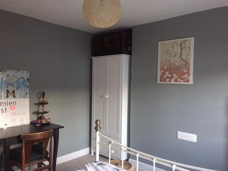 Bedroom, Painted With Farrow U0026 Ball, Manor House Grey