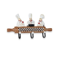 Rolling Pin Culinary Wall Hook... Need this to match my chef decorations in my kitchen! :)