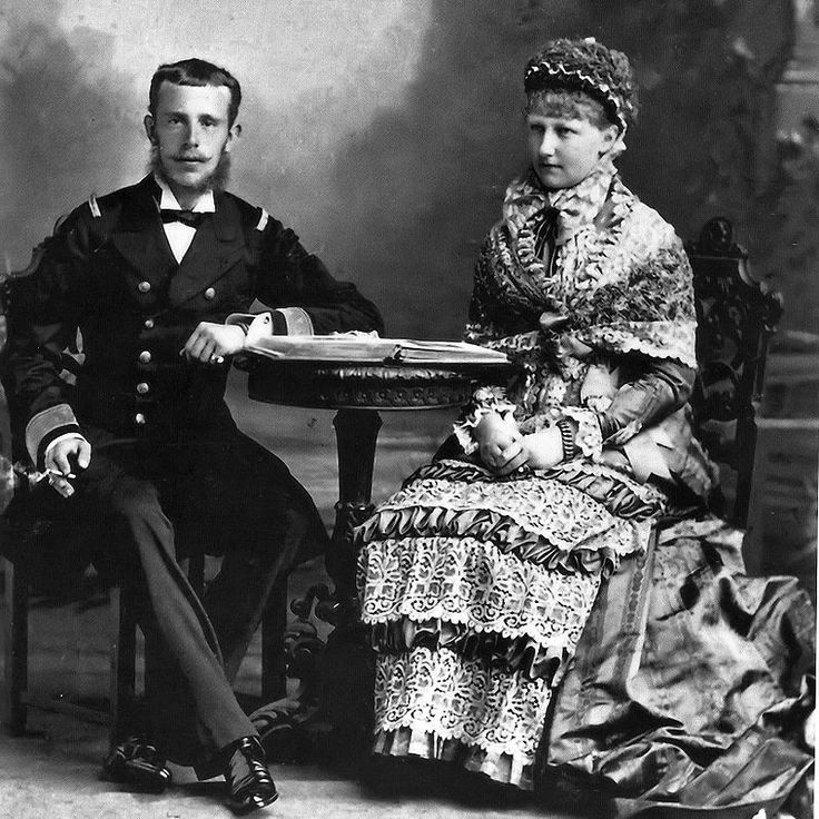 * Stéphanie da Bélgica e seu marido, Arquiduque Rudolf da Áustria.