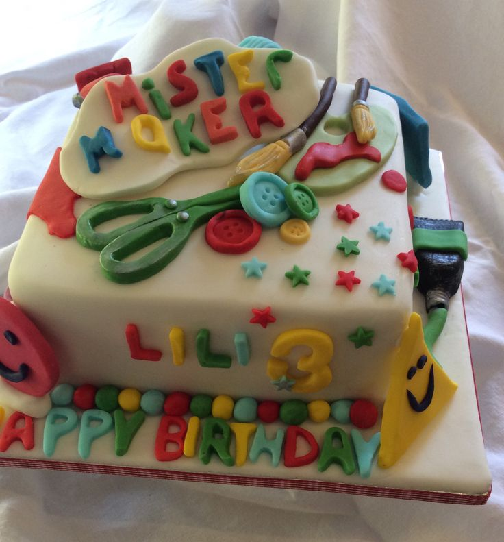 Mr Maker Birthday  Cake