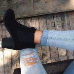 black-wedge-ankle-bootie