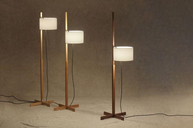 Lámparas de pie TMM. Diseño de Miguel Milá, 1961