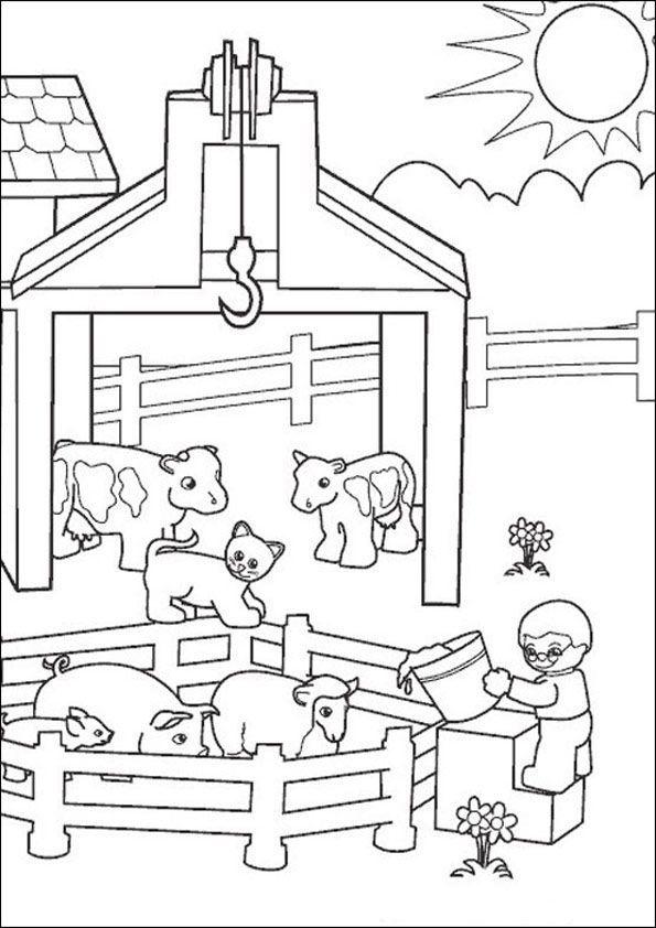 Bauernhof Kostenlose Ausmalbilder Zeichnung Ausmalen Ausmalbilder Kinderbilder Zum Ausmalen