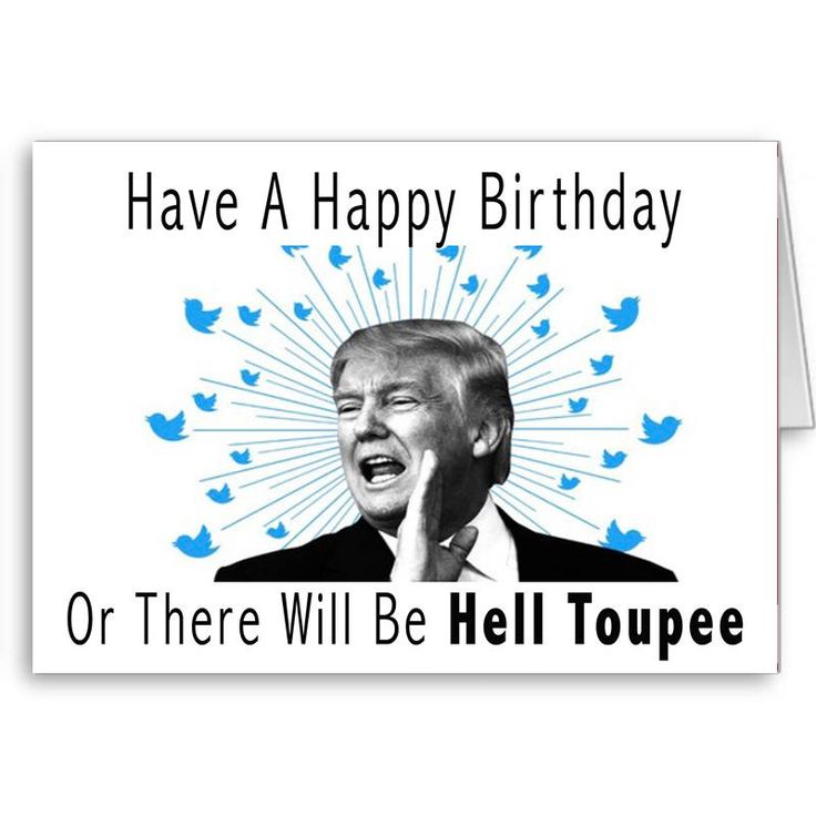 Excited to share the latest addition to my #etsy shop: Trump Birthday Card, Funny Trump Card, Political Card, Birthday Wishes, Donald Trump, Trump Toupee, Trump Hair, 40th Birthday, 50th Birthday