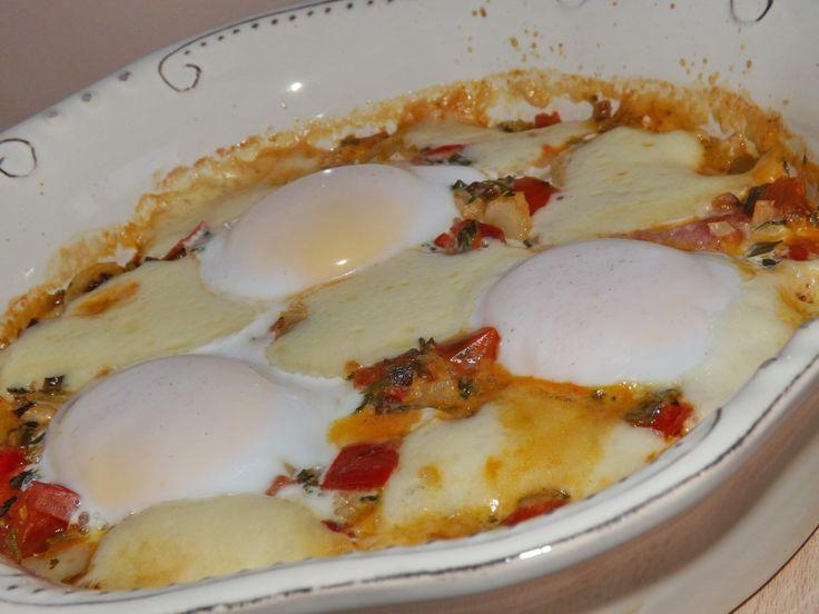 Mic dejun cu oua pe pat de legume(partea intai)