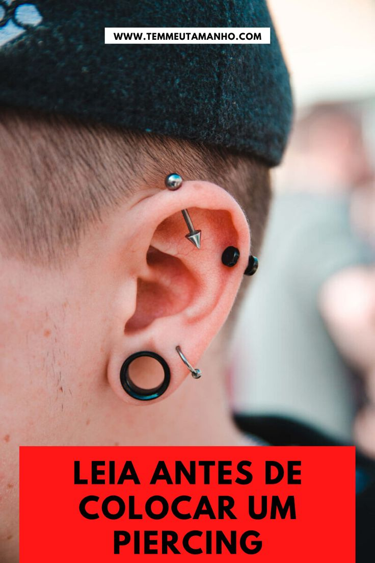 If you've been thinking about getting an industrial piercing but still aren't sure, you're in the right place. Check out our industrial piercing FAQ. Eyebrow Piercing Men, Guys Ear Piercings, Multiple Ear Piercings, Tragus Piercings, Peircings, Piercing Tattoo, Body Piercing, Crazy Piercings, Cartilage Ring