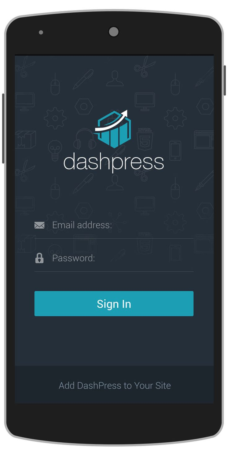 DashBoard Android App Template Login