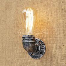 Lámpara de Pared del Desván de la vendimia de Tuberías de Agua Industrial De Hierro Fundido Brida del Aplique de Luz Para Sala de estar Dormitorio Restaurante Bar 80 v-240 v E27(China)