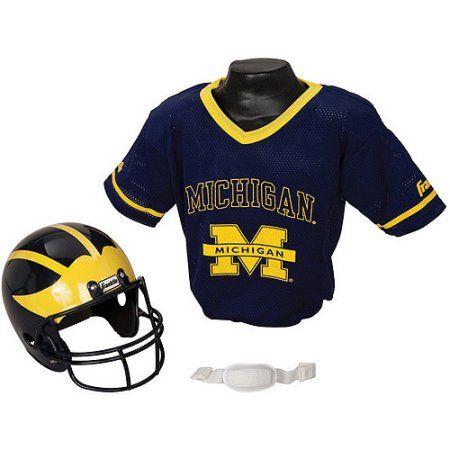 Franklin Sports Ncaa Michigan Wolverines Helmet Jersey Set, Multicolor