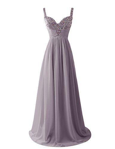 Dresstells Women's Long Straps Chiffon Prom Dress Ruffles Evening Dress Party Dress with Sequins Grey Size 6 Dresstells http://www.amazon.co.uk/dp/B00U8HQSRY/ref=cm_sw_r_pi_dp_zaLgvb1CQHMAY