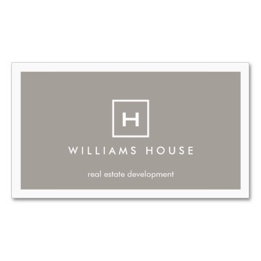 37 best business cards for real estate realtors and brokers images box logo with your initialmonogram on taupe business card colourmoves