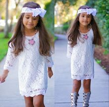 Kinderen zomer baby meisjes prinses geborduurde kant bloem tutu jurk formele 2-11y(China (Mainland))