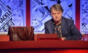 Paul Merton with handbag on Have I Got News For You
