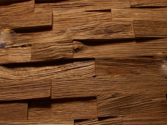 Mozaika drewniana na ścianę | Hit ! na wzór kamienia w ryskę