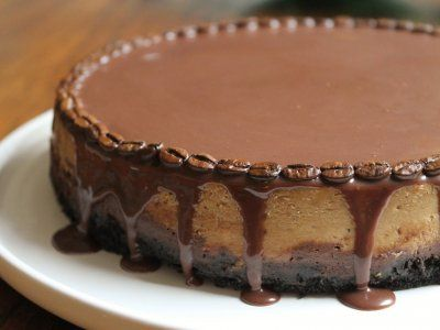 Pastel de Queso y Café | Una rica receta de pastel de queso de chocolate para las tardes de cafecito o algún cumpleaños.