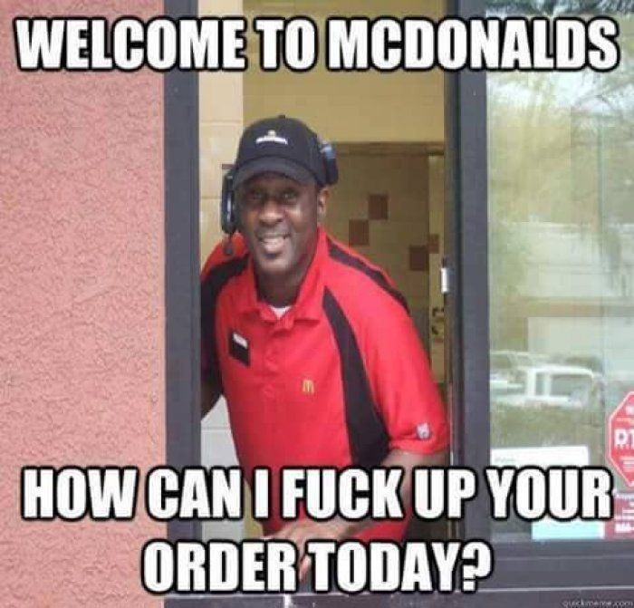 Welcome to McDonalds meme