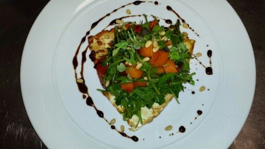 Haloumi and pumpkin salad